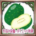 冬瓜の栄養ダイエット効果!皮や種の美味しい簡単な食べ方は?