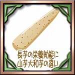 長芋の栄養効能に加熱でネバネバ効果は?山芋大和芋の違い