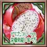 ドラゴンフルーツ(ピタヤ)の栄養効能に食べ方!便秘美容に効果的!