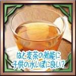 はと麦茶の効能に子供の水いぼに良い?麦茶との違いは?